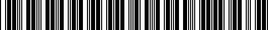 Barcode for 0022835967PF