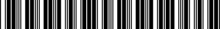 Barcode for 0027800931