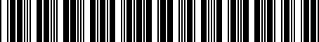 Barcode for 0042S35968