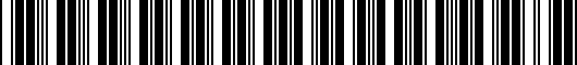 Barcode for 0044442965SP