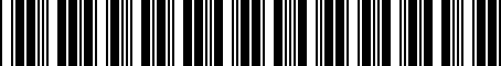 Barcode for 0840252826