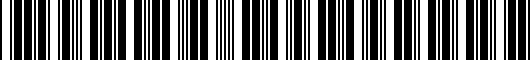 Barcode for 8463302020