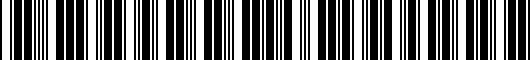 Barcode for G11000R012