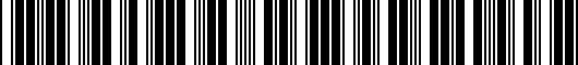 Barcode for PT23347100WH