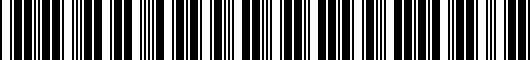 Barcode for PT39807080EC