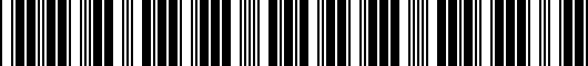 Barcode for PT41342130AC
