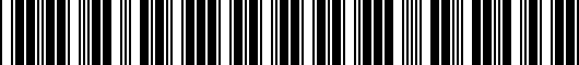 Barcode for PT4781813002