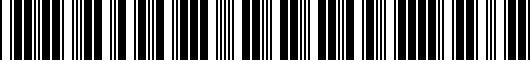 Barcode for PT92300097MC