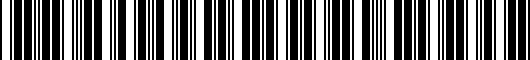 Barcode for PT9240815011