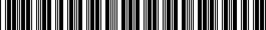 Barcode for PT92542160AD