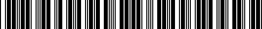 Barcode for PT9260C09720