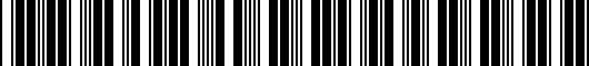 Barcode for PT9360012007