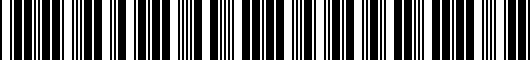 Barcode for PT9360312003