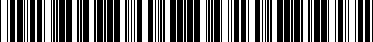 Barcode for PT9360315018