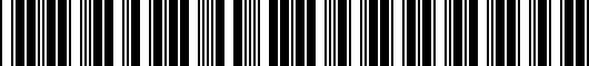 Barcode for PT9360318121