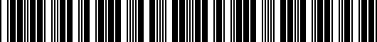Barcode for PT9360T13021
