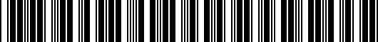 Barcode for PT9363511002