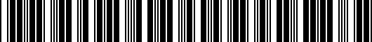 Barcode for PT9363511003