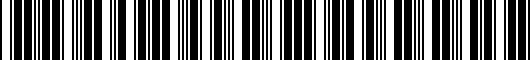 Barcode for PT9380719004
