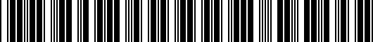 Barcode for PT9381813002