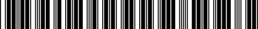 Barcode for PT9381813013