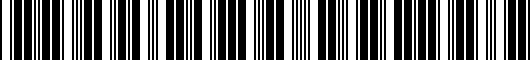 Barcode for PTS0233070CC