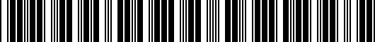 Barcode for PTS0233075CC