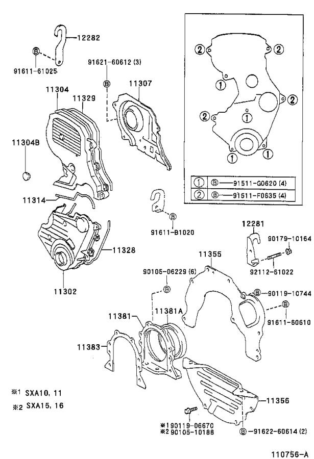Toyota Rav4 Engine Timing Cover Gasket - 1132874060