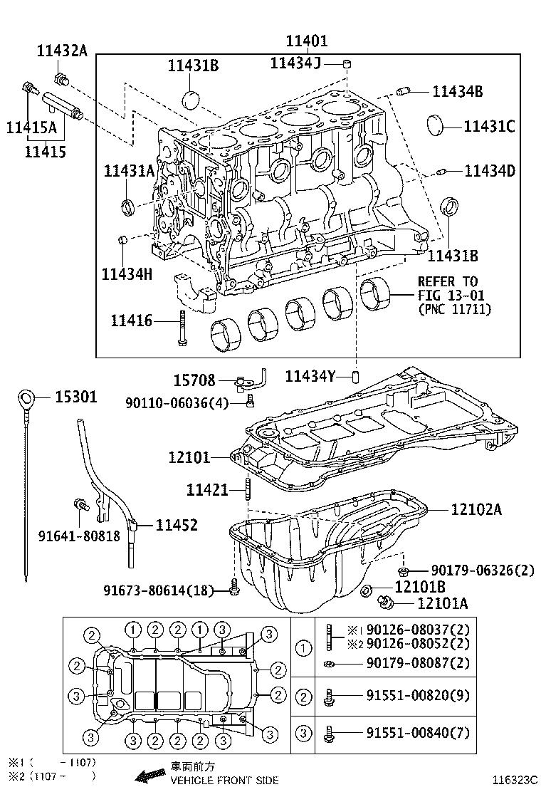 Diagram CYLINDER BLOCK for your Toyota 4Runner