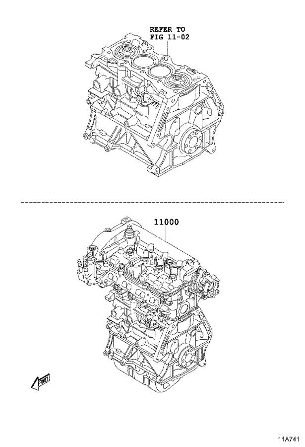 Toyota Yaris Ia Engine Assembly  Partial  Replaced By
