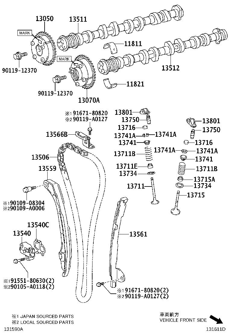 2011 Toyota Sienna Engine Timing Chain  Expert  Comes