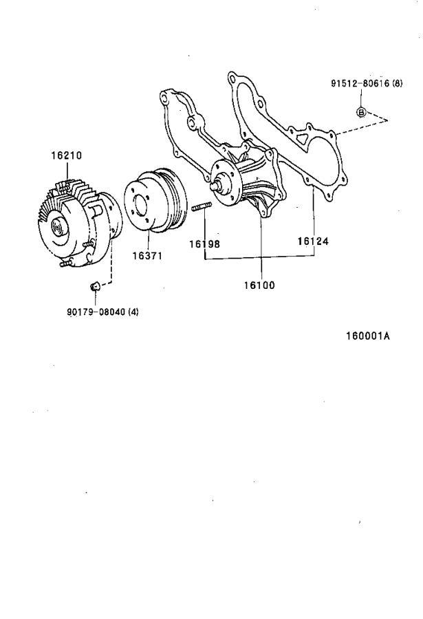 Diagram WATER PUMP for your 1996 Toyota