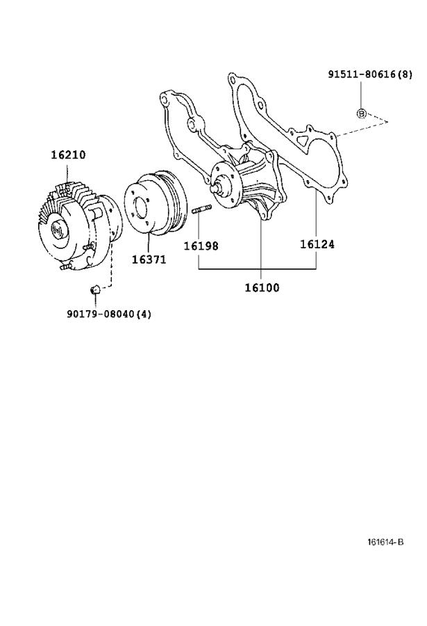 Diagram WATER PUMP for your 1996 Toyota Tacoma
