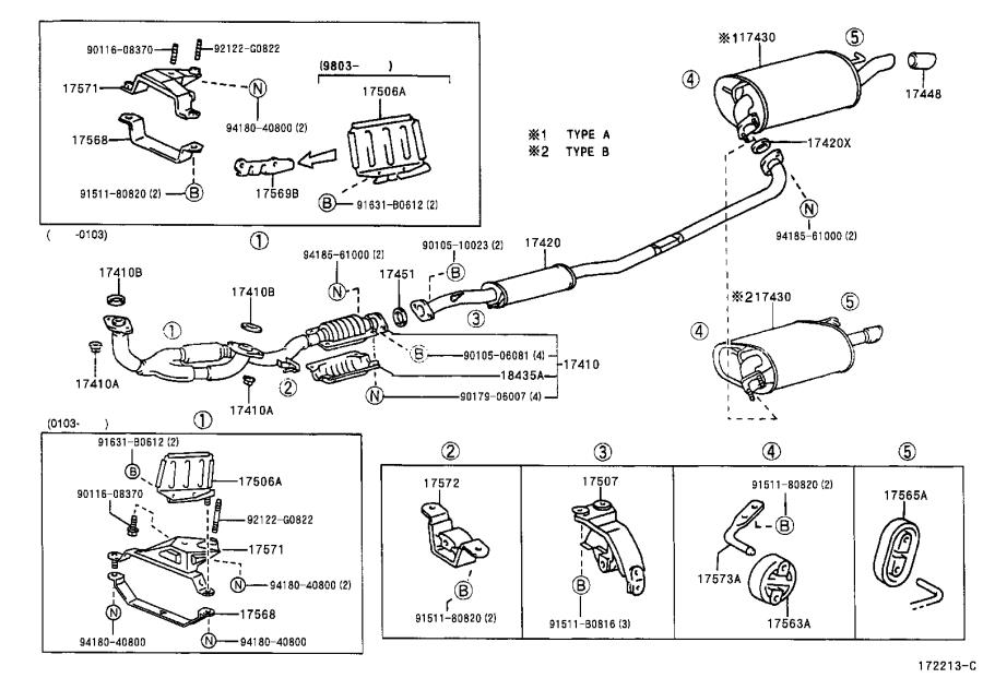 9008043036 - Gasket  Exhaust Pipe  Engine