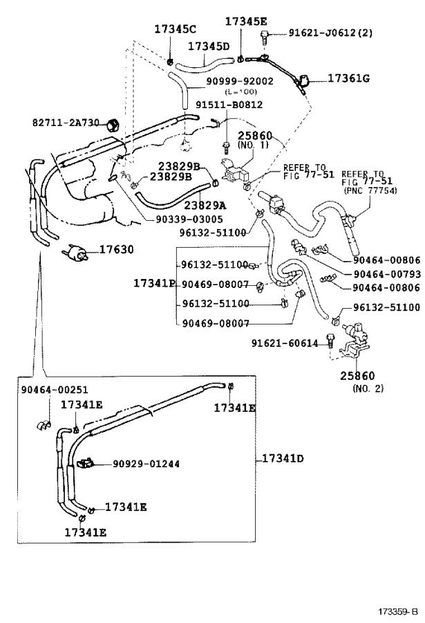 Diagram VACUUM PIPING for your 2006 Toyota Land Cruiser Base 4.7L 4WD AT