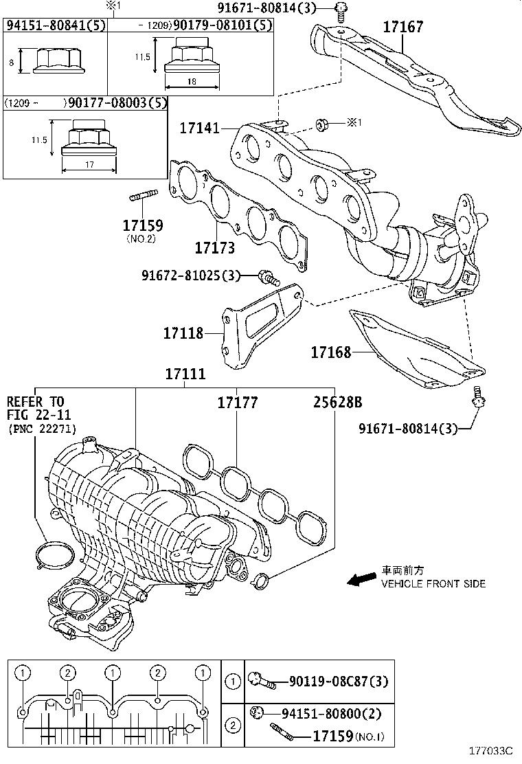 Toyota Prius V Catalytic Converter With Integrated Exhaust Manifold - 1714137150