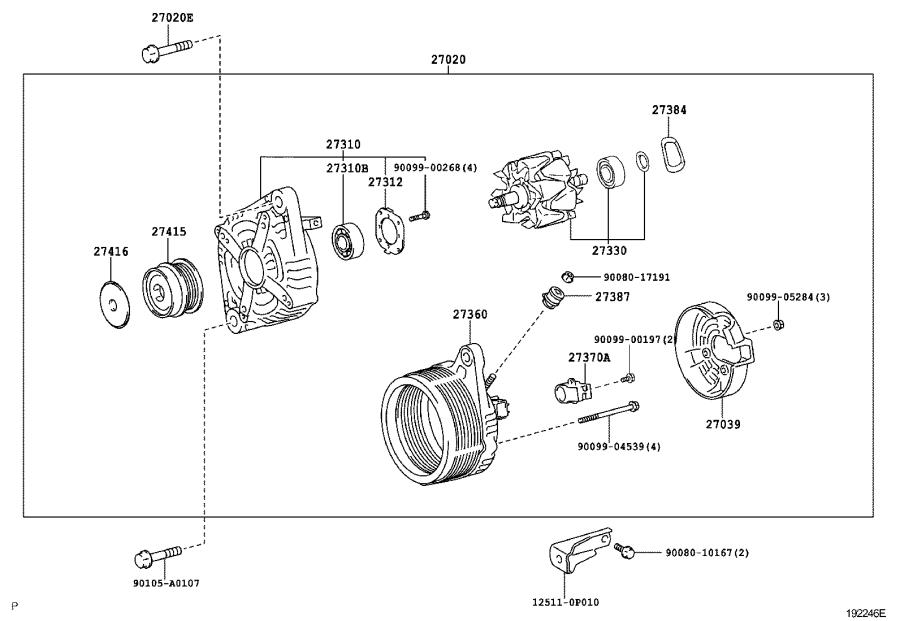 2007 Toyota Avalon Bearing  For Alternator Drive End Frame