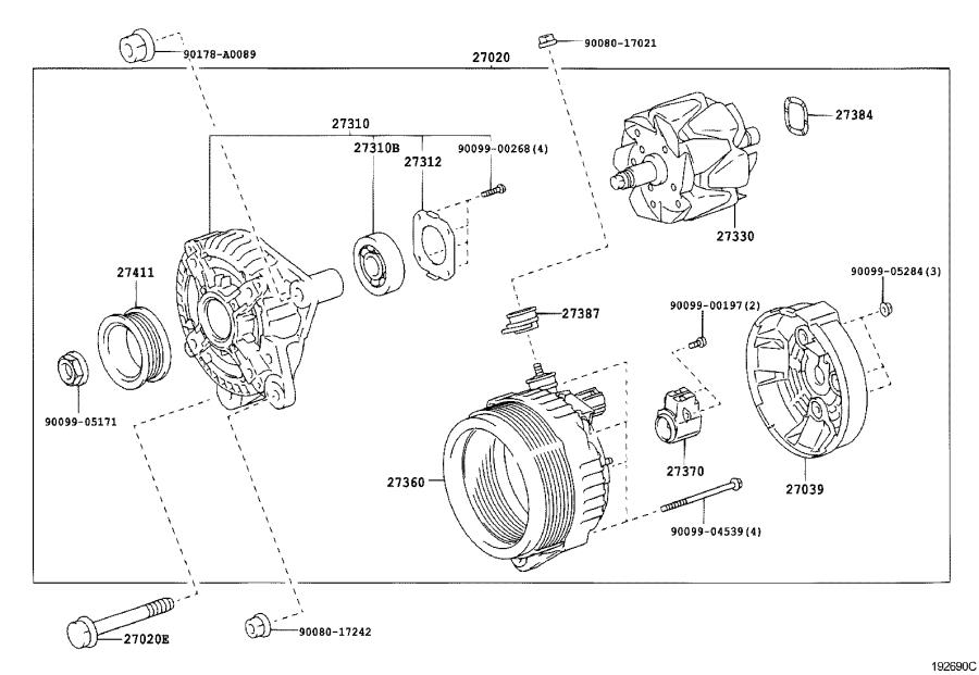 Diagram ALTERNATOR for your 2007 Toyota Tundra CrewMax Limited