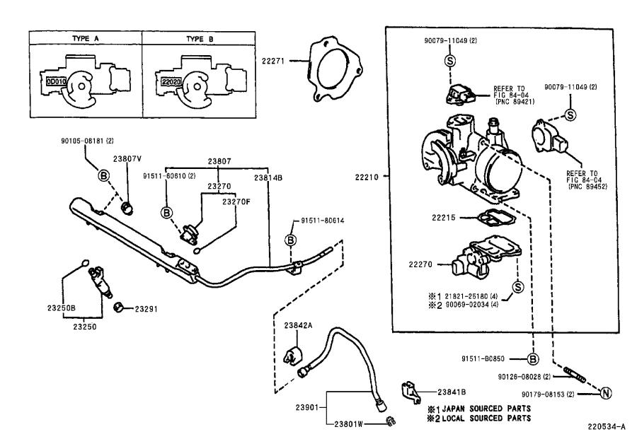 2000 Toyota Corolla Pipe Sub-assembly  Fuel  System  Injection - 2380722080