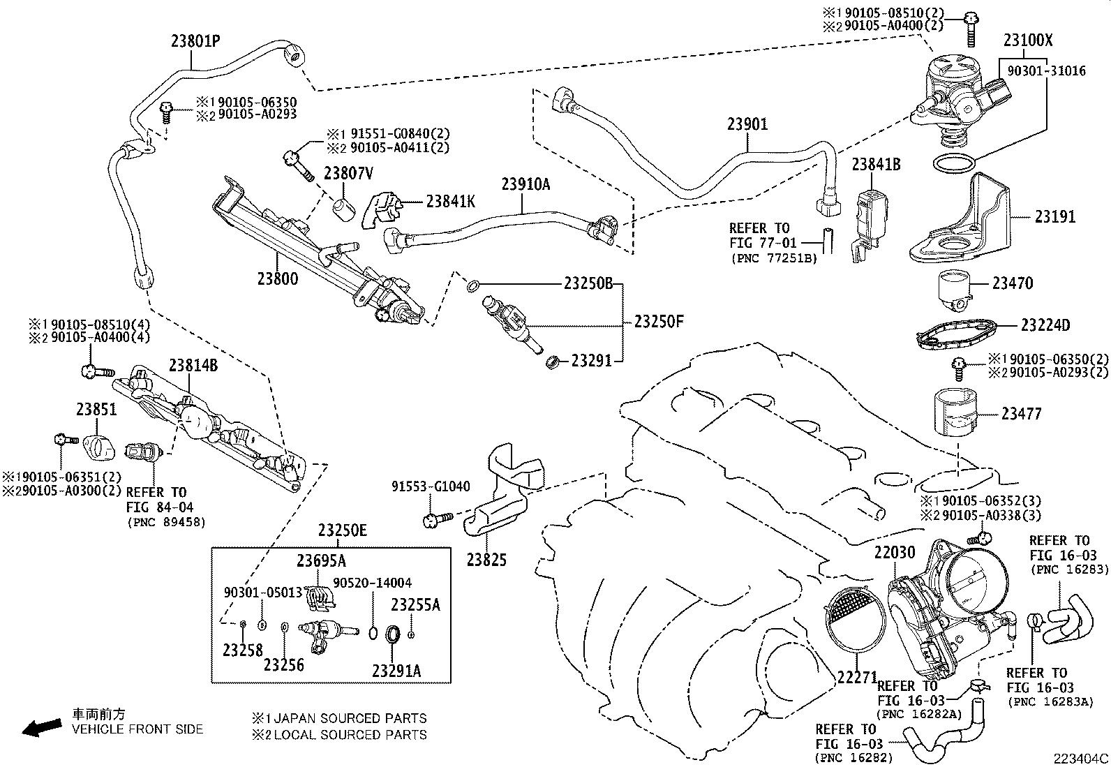 2018 Toyota Camry Fuel Injection Throttle Body  System
