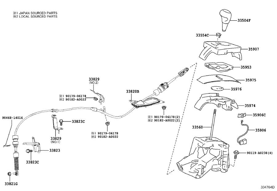 toyota corolla cover  slide  no  2  for position indicator