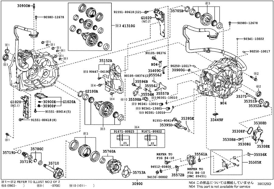 2011 toyota camry shim for counter driven gear   transaxle