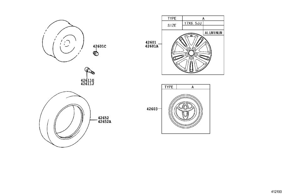 Diagram DISC WHEEL & WHEEL CAP for your 2006 Toyota Highlander