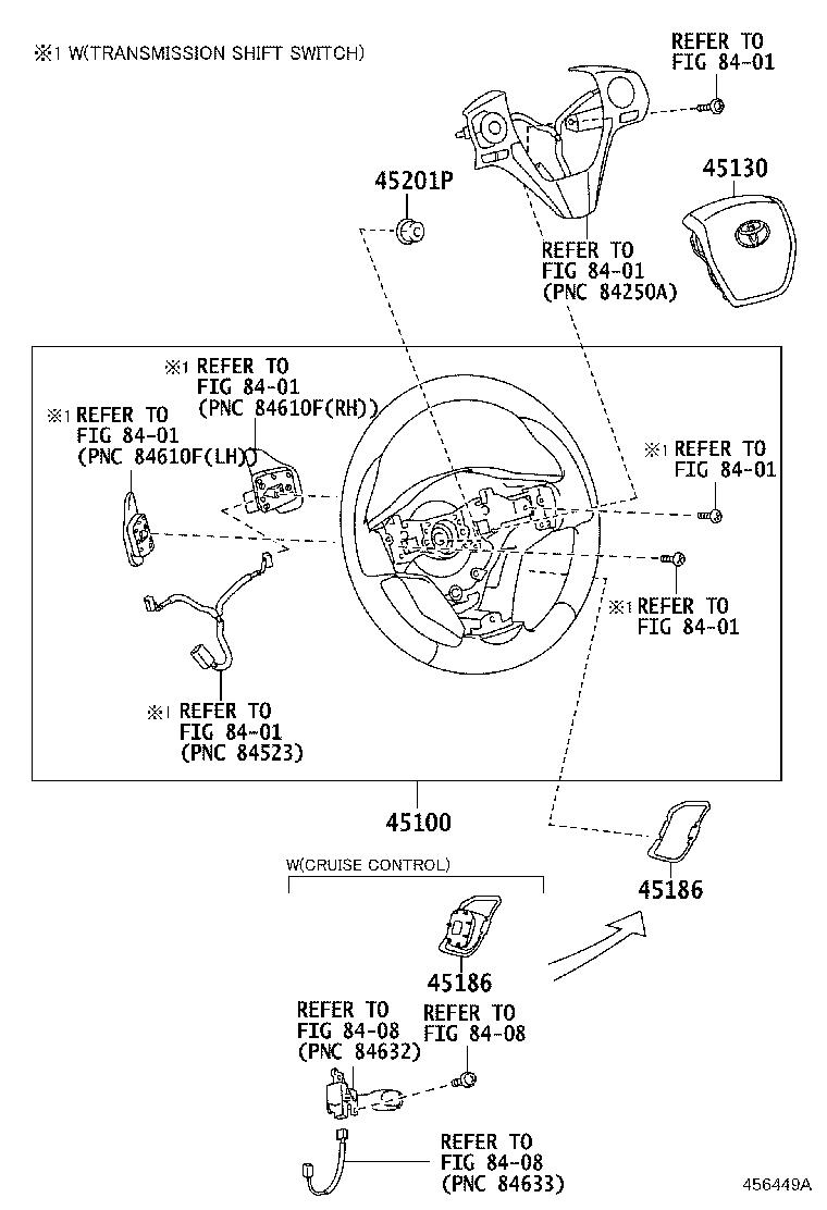 Diagram STEERING WHEEL for your 1998 Toyota T100