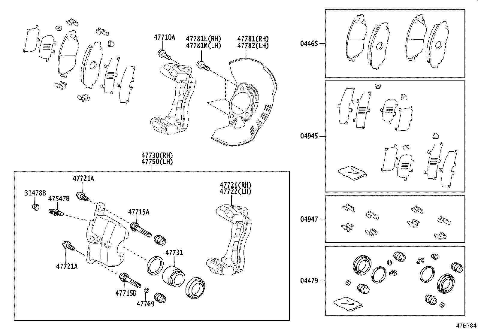 Diagram FRONT DISC BRAKE CALIPER & DUST COVER for your 2015 Toyota Tundra