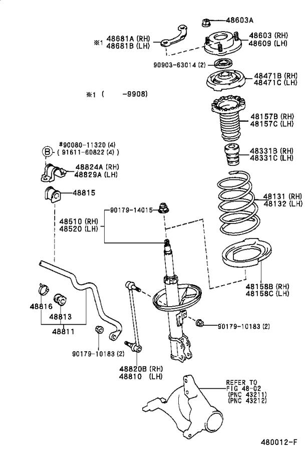 Diagram FRONT SPRING & SHOCK ABSORBER for your 2016 Toyota Mirai