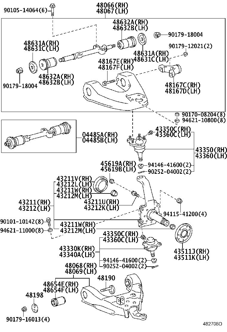 1992 Toyota Truck Suspension Control Arm  Right  Front