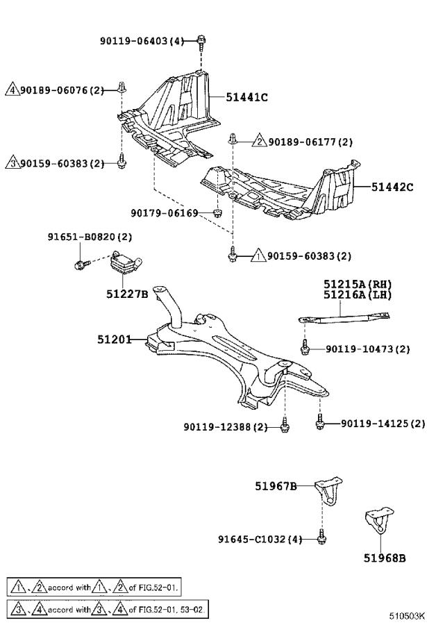 Diagram SUSPENSION CROSSMEMBER & UNDER COVER for your 2018 Toyota 86
