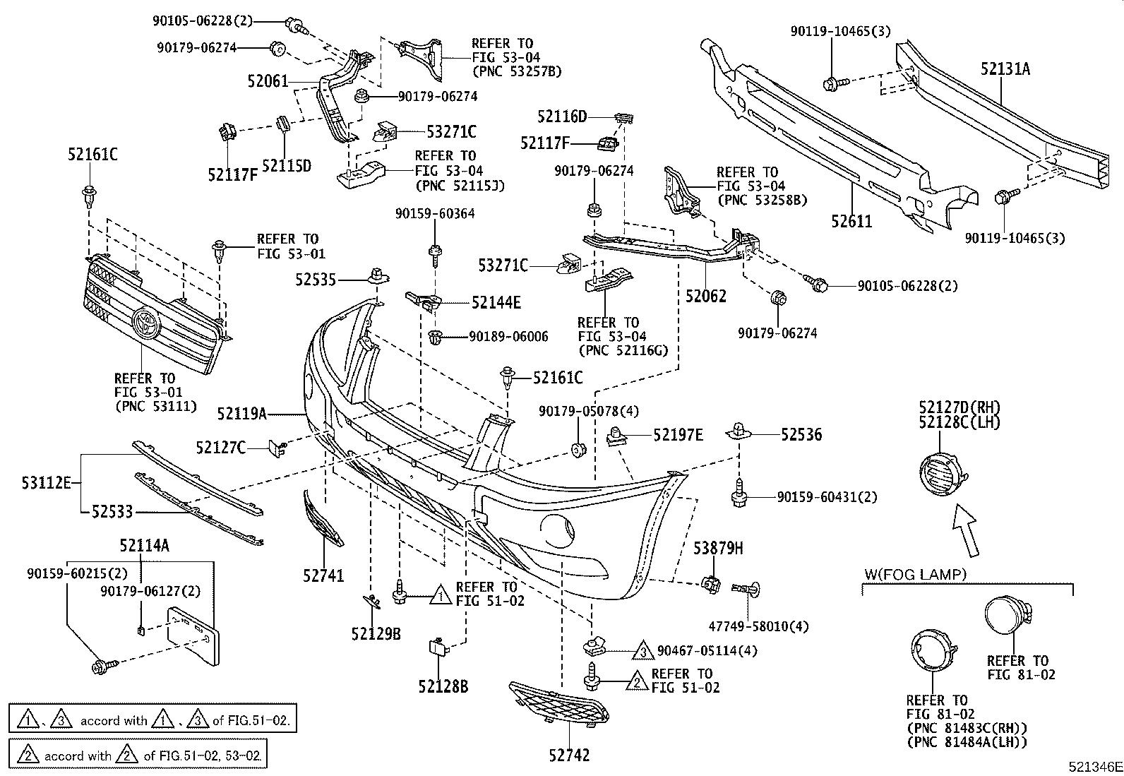 Diagram FRONT BUMPER & BUMPER STAY for your 2007 Toyota Tundra