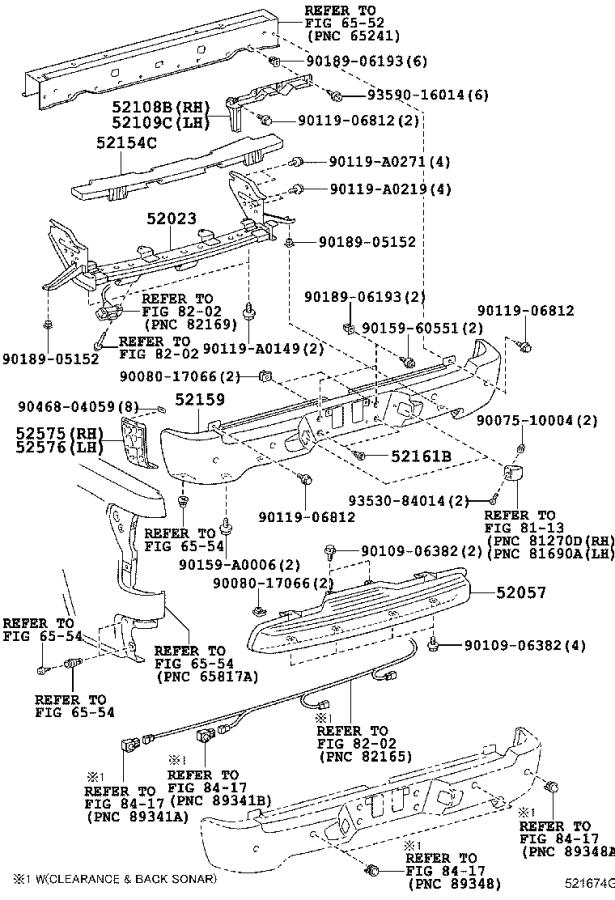 Diagram REAR BUMPER & BUMPER STAY for your 2012 Toyota Highlander